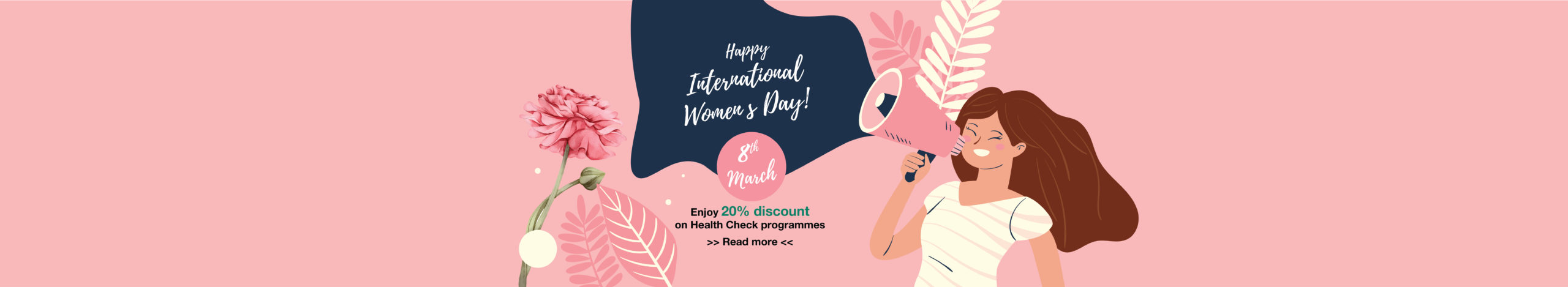 Enjoy 20% discount for Women Health Check on International Women's Day